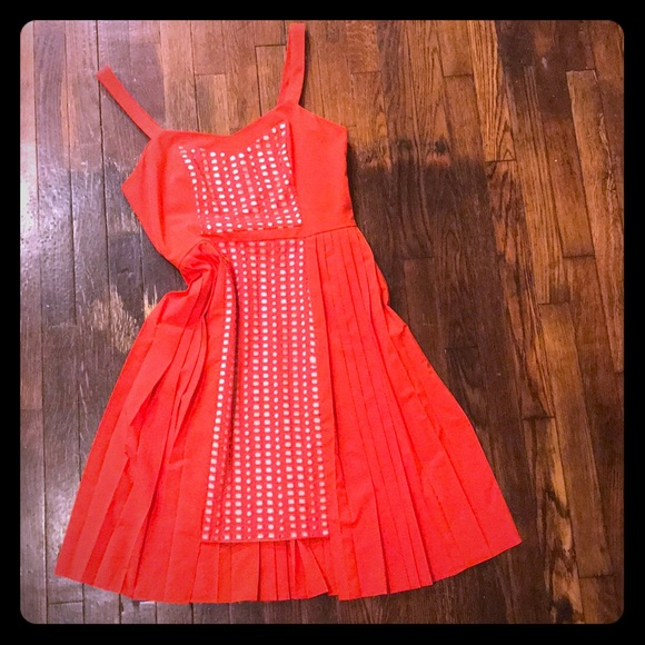 Anthropologie Dresses & Skirts - Pleated high-low color block sundress